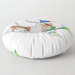 Texas Mermaid Floor Pillow