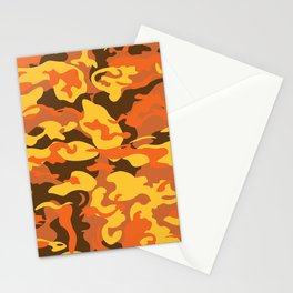 Camo Style - Orange Camouflage Stationery Cards