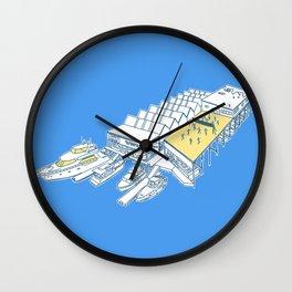 Yacht Club Volleyball Wall Clock