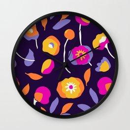 Abstract Dancing Poppies Wall Clock