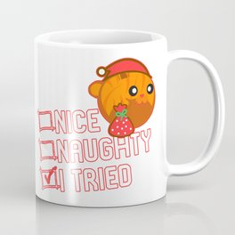 Nice Naughty I Tried Orange Tabby Coffee Mug