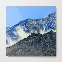 Peaceful Clouds Descended And Comforted The Mountains Metal Print