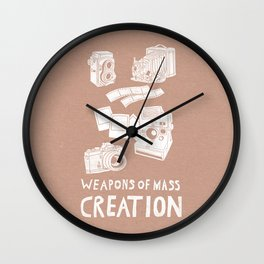 Weapons Of Mass Creation - Photography (white) Wall Clock