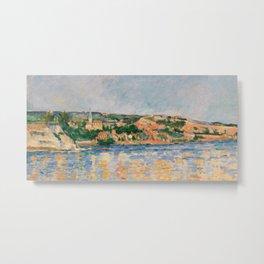 Paul Cézanne - Village at the Water's Edge Metal Print