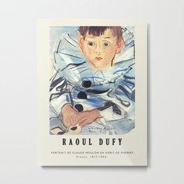 Poster-Raoul Dufy-Portrait de claude moulon en habit de pierrot. Metal Print