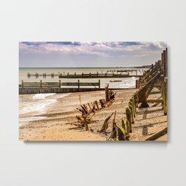 Beach in Summer Metal Print