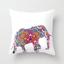 Elephant Big Endangered Forest Mammal Animal Gift  Throw Pillow