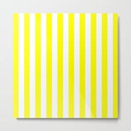 Vertical Stripes (Yellow & White Pattern) Metal Print
