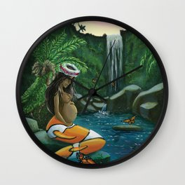 Secluded Lagoon Wall Clock
