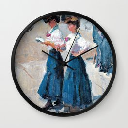Isaac Lazarus Israels - Midinettes On The Place Vendome, Paris - Digital Remastered Edition Wall Clock
