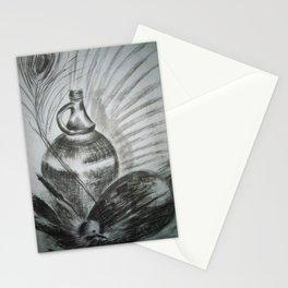 Stillness with peacock feather / Vaikus paabulinnu sulega Stationery Cards