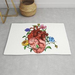 An Overgrown Floral Heart Rug