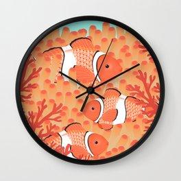 Clown fish - Mandarin Garnet Wall Clock