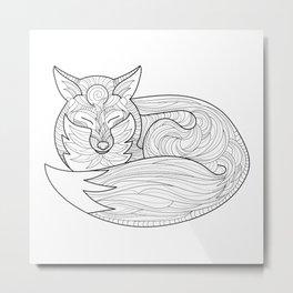 Fox Totem Metal Print