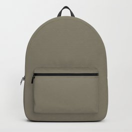 Techno Mid Tone Grey Brown Solid Color Pairs To Sherwin Williams 2021 Hardware SW 6172 Backpack