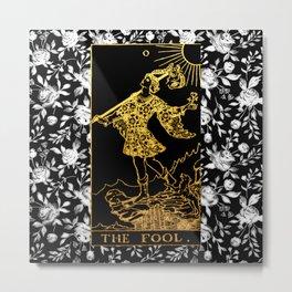 The Fool - A Floral Tarot Print Metal Print