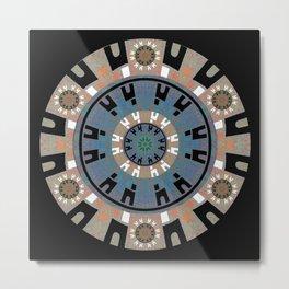 Power & Commitment Ancient Mandala Print Metal Print