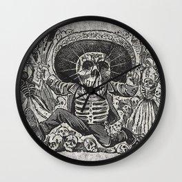 Calavera Oaxaqueña - Día de los Muertos - Mexican Day of the Dead by Jose Clemente Orozco Wall Clock
