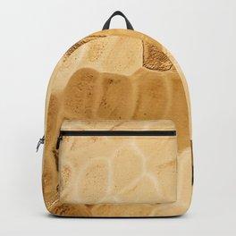 Hammered Gold Metallic Detail Backpack