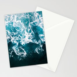 Blue Wave Network – Minimalist Oceanscape Photography Stationery Cards