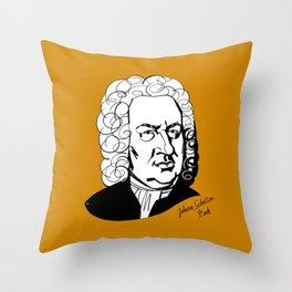 Johann Sebastian Bach Throw Pillow