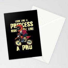 Motorcycling - Look Like A Princess - Ride Like A Pro Stationery Cards