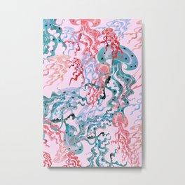 Magical Sea Octopus Metal Print