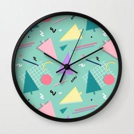 Memphis Xmas Wall Clock