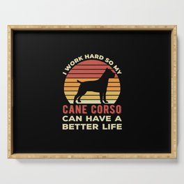 Funny Cane Corso Serving Tray