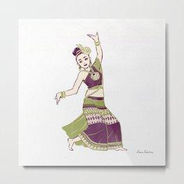 People of Thailand - Thai Dancer in Chiang Mai Metal Print