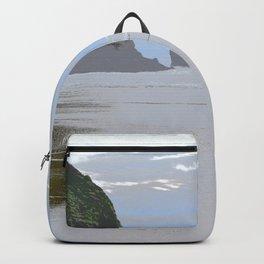 Illustrated Haystack Rock Backpack