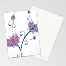 Ornament Flower Stationery Cards
