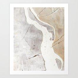 Feels: a neutral, textured, abstract piece in whites by Alyssa Hamilton Art Kunstdrucke