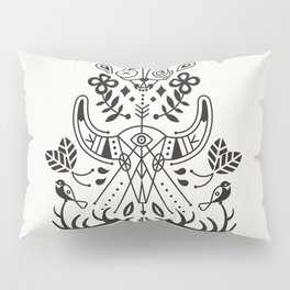 La Vie + La Mort: Black Ink Pillow Sham