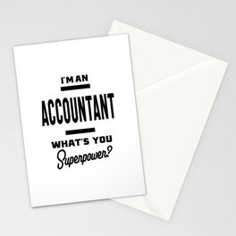 Accountant Work Job Title Gift Stationery Cards