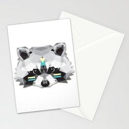 Boho poly raccoon Stationery Cards
