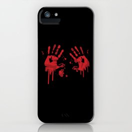 Bloody Handprints Horror Design iPhone Case