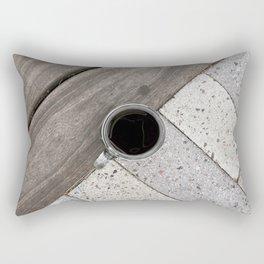 Artistic Cold Brew Shot // Wood & Stone Caffeine Pop Art Wall Hanging Coffee Shop Photograph Rectangular Pillow
