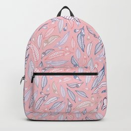 Gumnuts Pattern in Peach and Brown Backpack