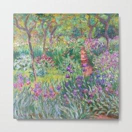 Claude Monet - The Artist's Garden in Giverny Metal Print