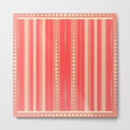 Coral and Cream Summer Pattern | Nadia Bonello Metal Print