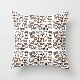 Wild animals × 25 Throw Pillow