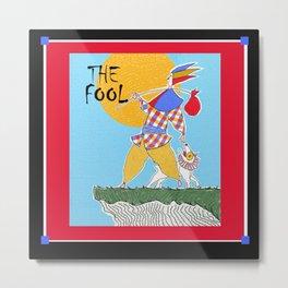 The Fool Tarot Card Metal Print
