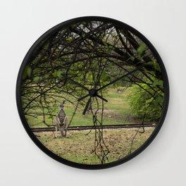 Roo through the Trees Wall Clock