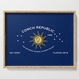 Conch Republic Flag Serving Tray