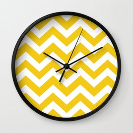 Jonquil - yellow color - Zigzag Chevron Pattern Wall Clock
