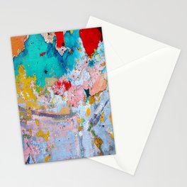 A natural abstract art from a urban wall photo Stationery Cards