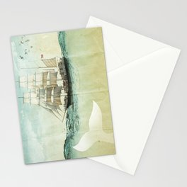 white tail, Moby Dick Stationery Cards