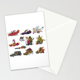 wacky races Stationery Cards