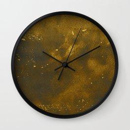 Golden ink art Wall Clock